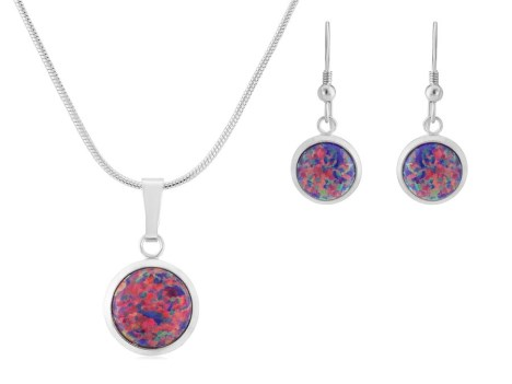Purple opal earring and pendant.  | Image 1