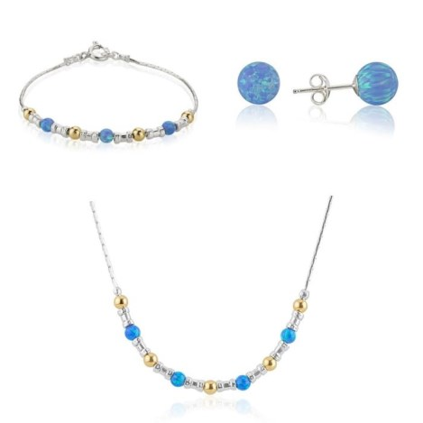 Matching blue opal gift set | Image 1