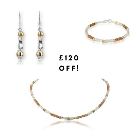 Gold and Silver three colour twist gift set Sale Price £385 | Image 1