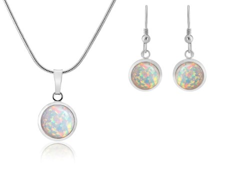 Purple opal earring and pendant. Save £9 | Image 1